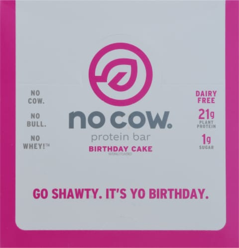 no cow Dairy Free Birthday Cake Protein Bars Perspective: top