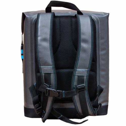 Canyon Coolers Nomad Go 21 Quart 19 Liter Insulated Soft Backpack Cooler, Black Perspective: top