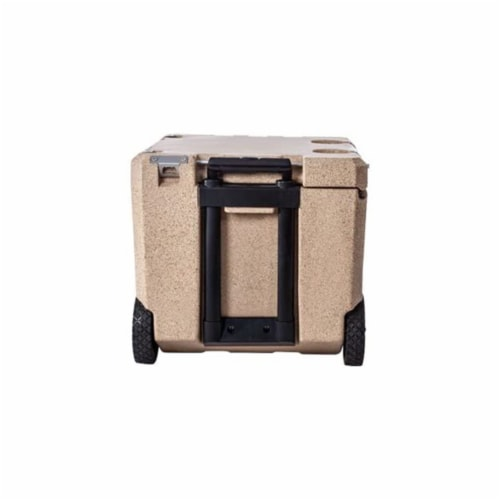 Canyon Coolers Mule 30 Quart 28 Liter Insulated Cooler with Wheels, Sandstone Perspective: top