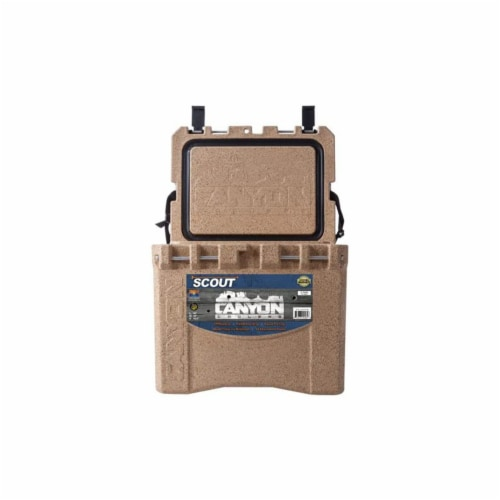 Canyon Coolers Scout 22 Quart 20 Liter Insulated Cooler w/ Tie Downs, Sandstone Perspective: top