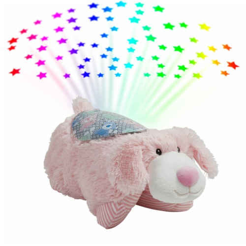Pillow Pets My First Puppy Sleeptime Lite Plush Toy - Pink Perspective: top