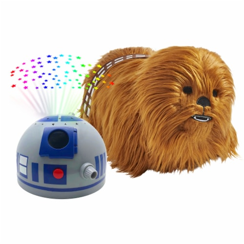 Pillow Pets Disney Star Wars Chewbacca & R2D2 Sleeptime Light Slumber Pack Perspective: top