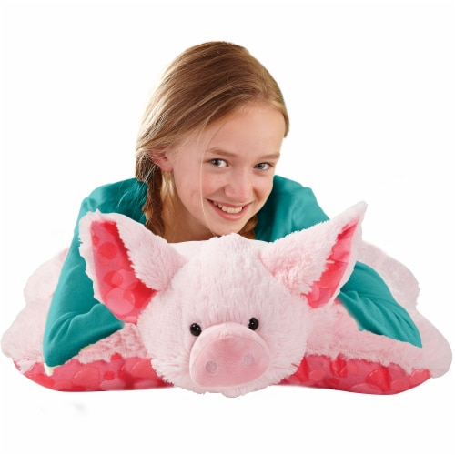 Pillow Pets Sweet Bubble Gum Scented Pig Plush Toy Perspective: top