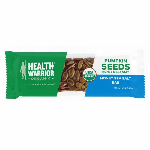 Health Warrior Organic Pumpkin Seeds Honey & Sea Salt Protein Bars Perspective: top