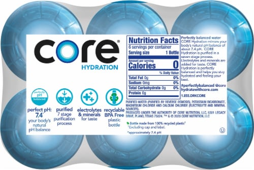 Core Hydration Perfectly Balanced Water Perspective: top