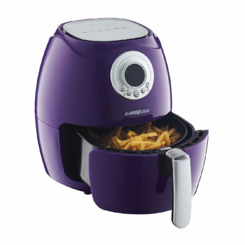 GoWISE USA 2.75-Quart Digital 50 Recipes for your Air Fryer Book, QT, Plum Perspective: top