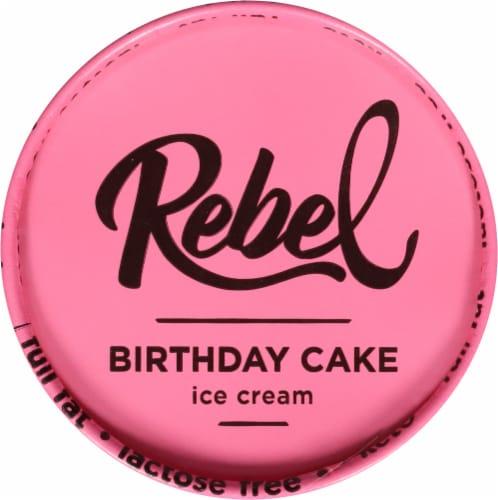 Rebel Birthday Cake Ice Cream Perspective: top