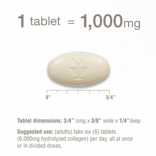 Youtheory Collagen Advanced Formula Tablets Perspective: top