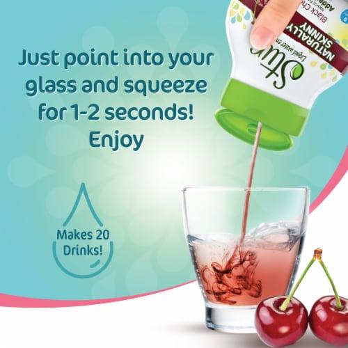 Stur Naturally Skinny Black Cherry Liquid Water Enhancer Perspective: top