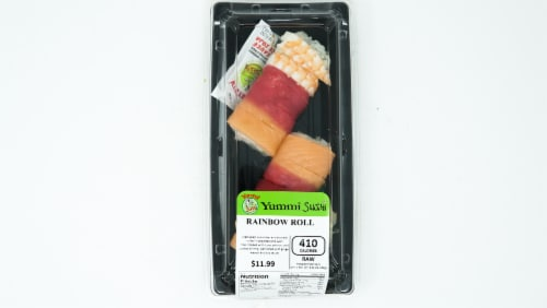 Yummi Sushi Rainbow Roll Perspective: top