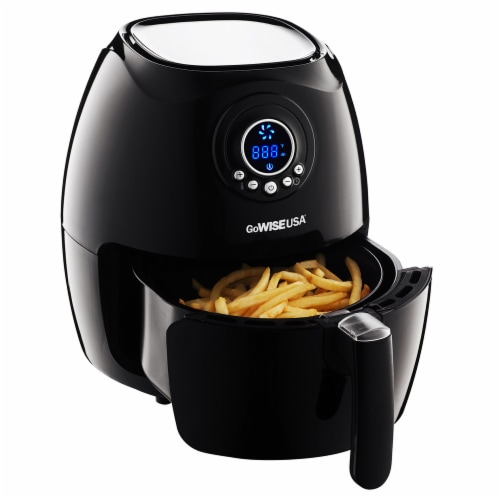 GoWISE USA 2.75-Quart Digital 50 Recipes for Your Air Fryer Book, Qt, Black Perspective: top