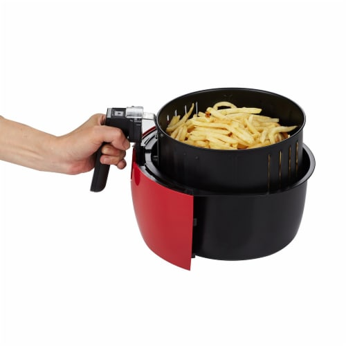 GoWISE USA 3.7-Quart Programmable Air Fryer, Chili Red Perspective: top