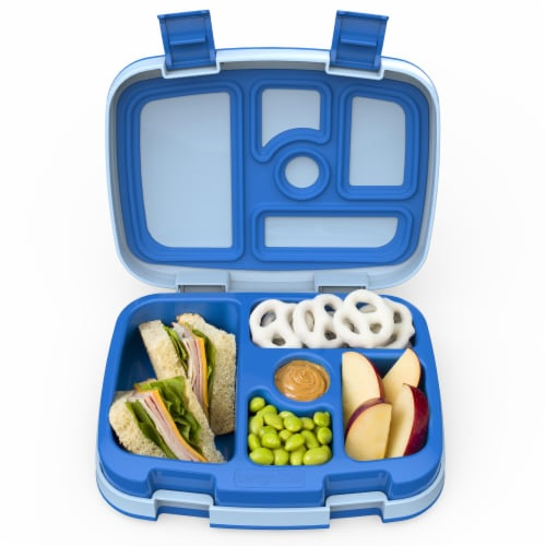 Bentgo Kids Leak Proof Chidren's Lunch Box - Blue Perspective: top