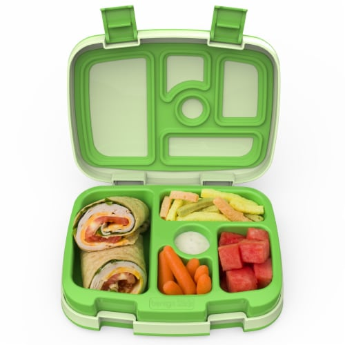 Bentgo Kids Chidrens Leak Proof Lunch Box - Green Perspective: top