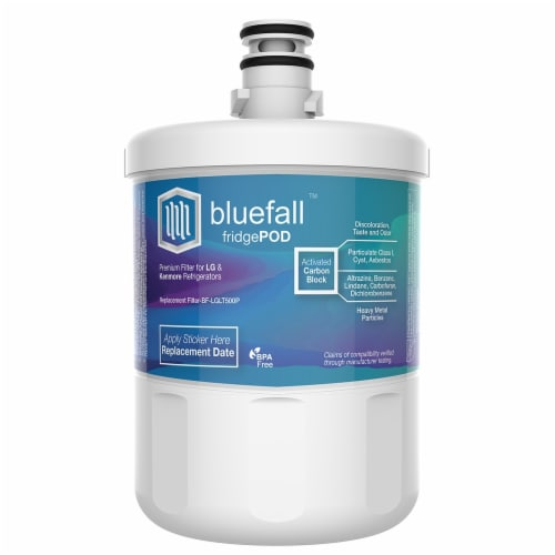 LG LT500P 5PK Refrigerator Water Filter Compatible by BlueFall Perspective: top
