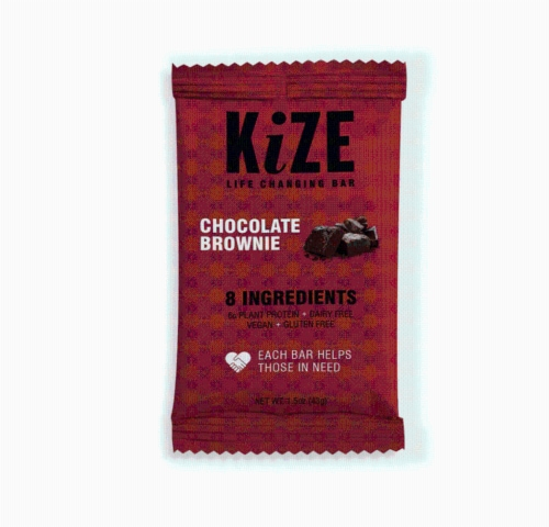 KiZE Life Changing Bar Chocolate Brownie Perspective: top