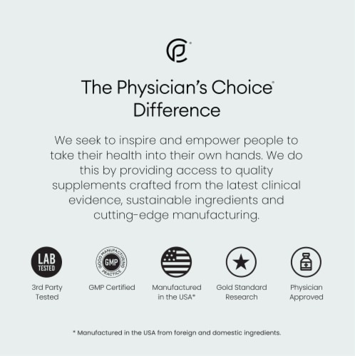 Physician's Choice Immune Premium Supplement Capsules Perspective: top