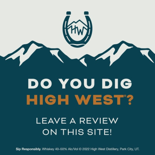 High West Double Rye Whiskey Perspective: top