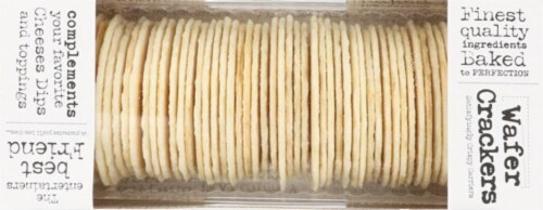 Olivia's Bakehouse Natural Wafer Crackers Perspective: top
