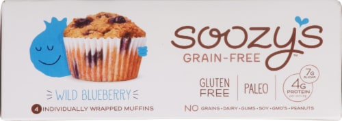 Soozy's Wild Blueberry Muffins Perspective: top