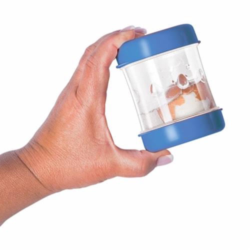 Negg Boiled Egg Peeler - BLUE Perspective: top