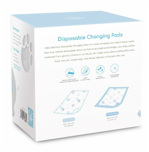 Little Martin's Disposable Changing Pads - 30 Counts Perspective: top
