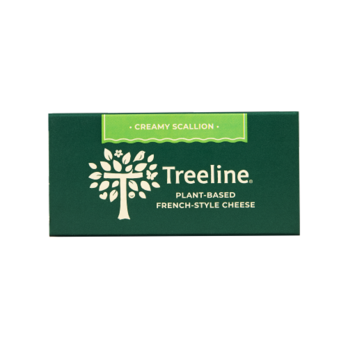 Treeline Treenut Cheese Scallion Flavor Soft French-Style Nut Cheese Perspective: top