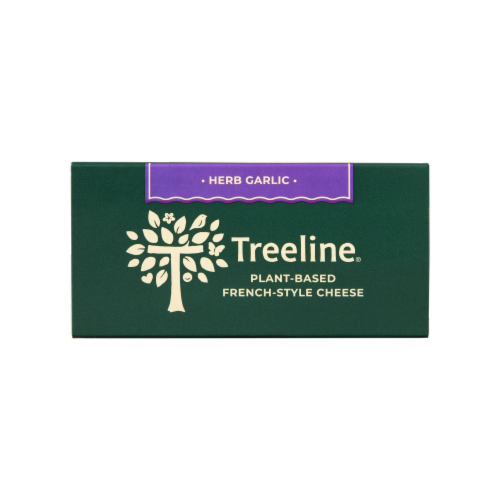 Treeline Treenut Cheese Herb & Garlic Soft French-Style Nut Cheese Perspective: top