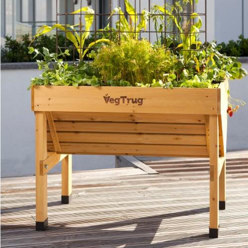 VegTrug Small Raised Bed Planter - Natural FSC 100% Perspective: top