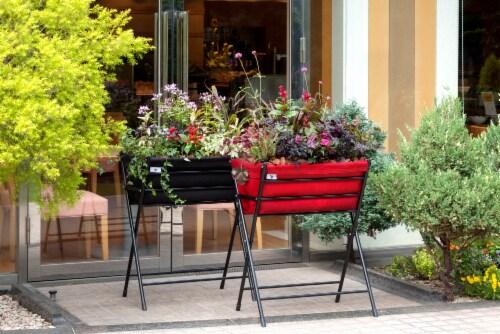 VegTrug Poppy Go! Raised Planter - Black Perspective: top