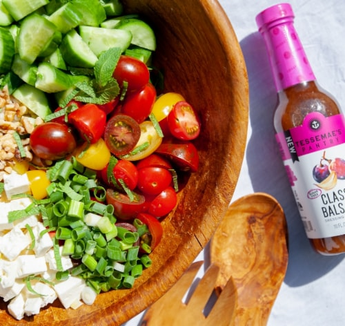 Tessemae's All Natural Balsamic Dressing & Marinade Perspective: top