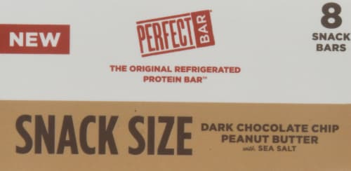 Perfect Bar Snack Size Dark Chocolate Chip Peanut Butter Bars Perspective: top