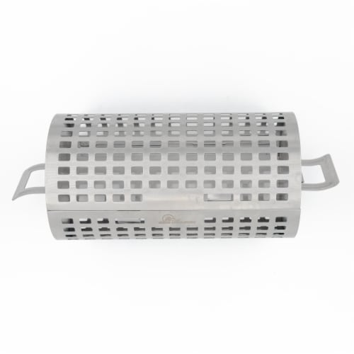BBQ Dragon Rolling Grill Basket Perspective: top