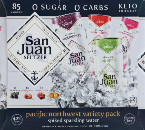 San Juan Seltzer Pacific Northwest Variety Pack Perspective: top