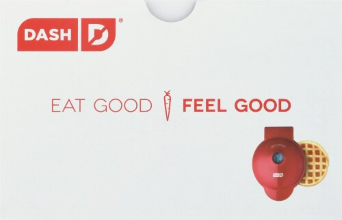 Dash Mini Waffle Maker - Red Perspective: top