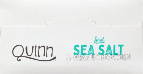 Quinn® Just Sea Salt Microwave Popcorn Perspective: top