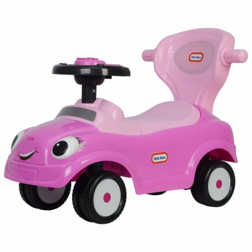 Best Ride On Cars Baby 3 in 1 Little Tikes Push Car Stroller Ride On Toy, Pink Perspective: top