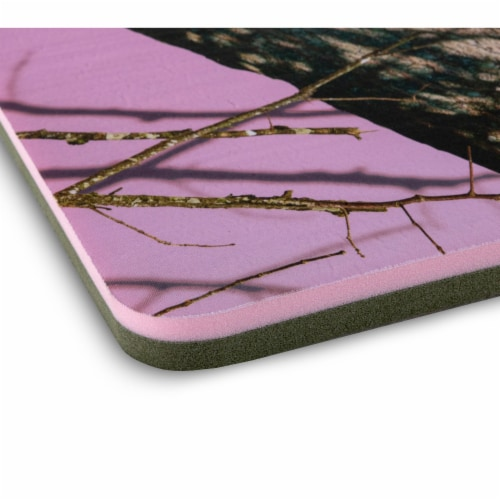 Floatation iQ Floating Oasis 15 x 6 Ft Foam Island Water Lake Pad Mat, Pink Camo Perspective: top