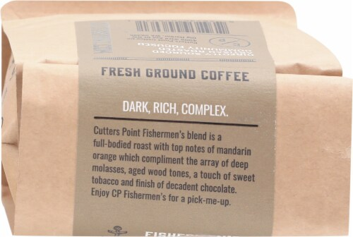 Cutters Point Coffee Co. Fishermen's Blend Dark Roast Ground Coffee Perspective: top