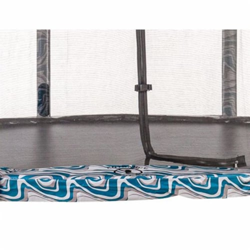Super Spring Cover - Safety  Pad, Fits 10 FT Round Trampoline Frame  - Maui Marble Perspective: top