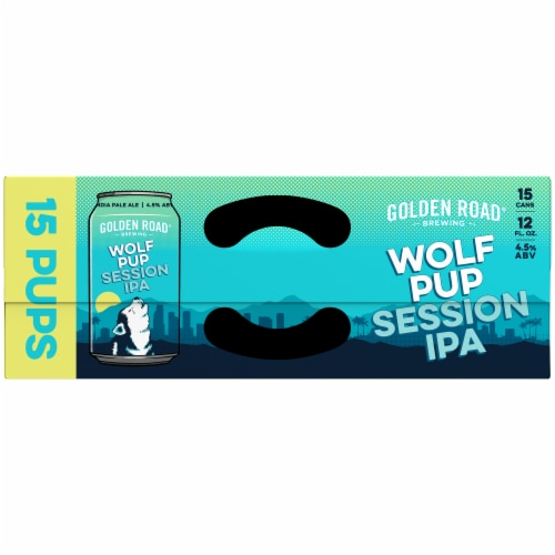 Golden Road Brewing Wolf Pup Session IPA Perspective: top