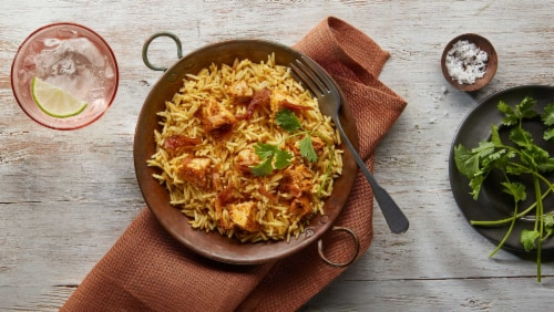 Saffron Road Chicken Biryani Rice Frozen Meal Perspective: top