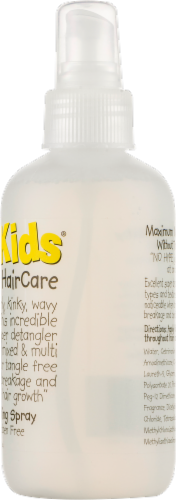 Curly Kids Mixed Hair Care Super Detangling Spray Perspective: top