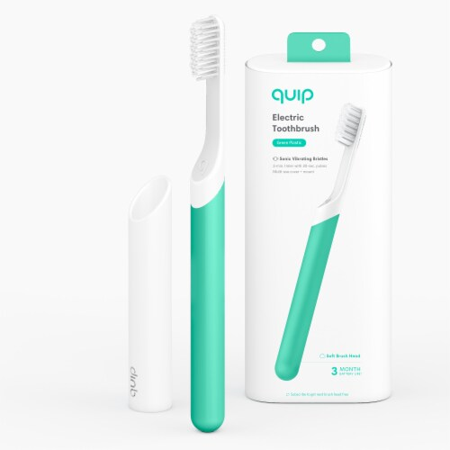 quip Plastic Electric Toothbrush - Green Perspective: top