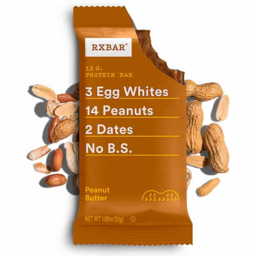 RXBAR Peanut Butter Protein Bars Perspective: top
