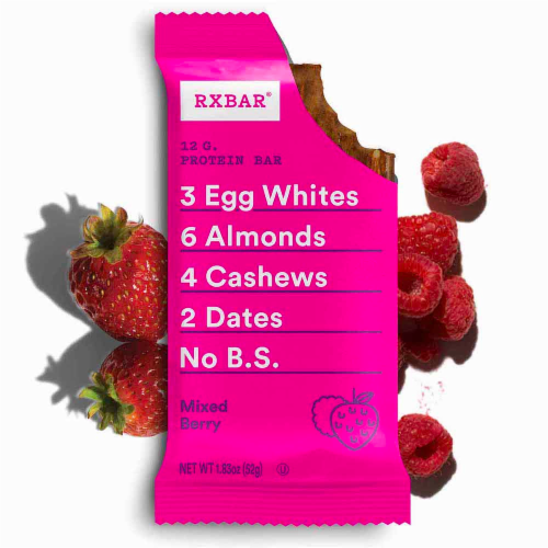 RXBAR Mixed Berry Protein Bars Perspective: top