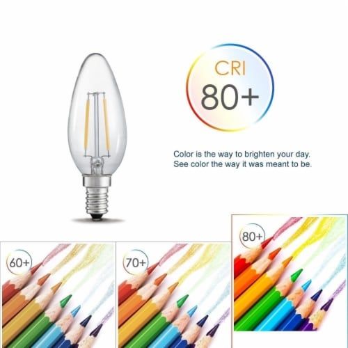Torpedo 20W Equivalent Warm White Candelabra Dimmable LED Light Bulb Perspective: top