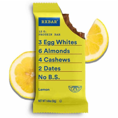 RXBAR Lemon Protein Bars 12 Count Perspective: top