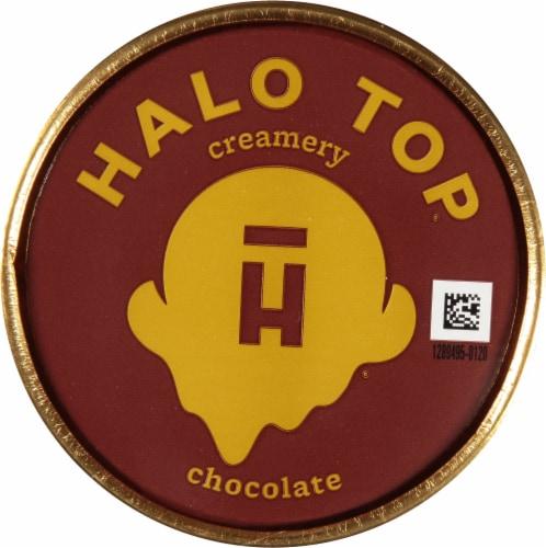 Halo Top® Chocolate Light Ice Cream Perspective: top