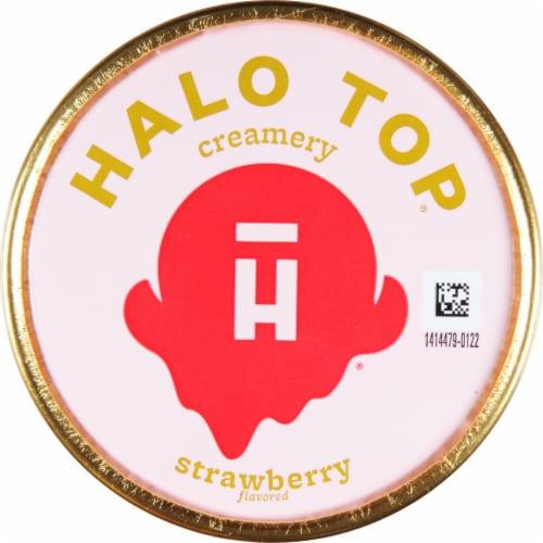 Halo Top Strawberry Light Ice Cream Perspective: top